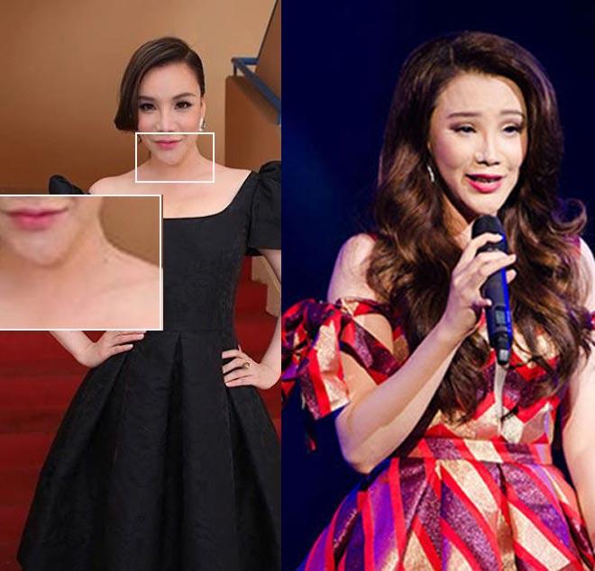 Minh Hằng, hot girl Kelly và những mỹ nhân Việt từng lộ cằm méo lệch - 14