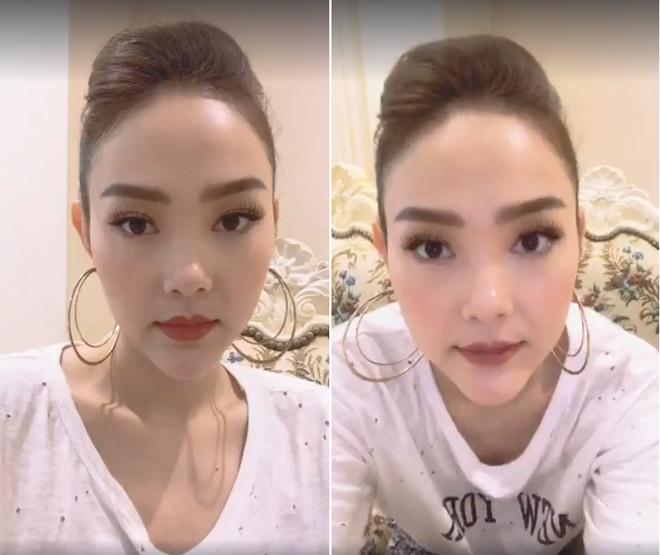 Minh Hằng, hot girl Kelly và những mỹ nhân Việt từng lộ cằm méo lệch - 3