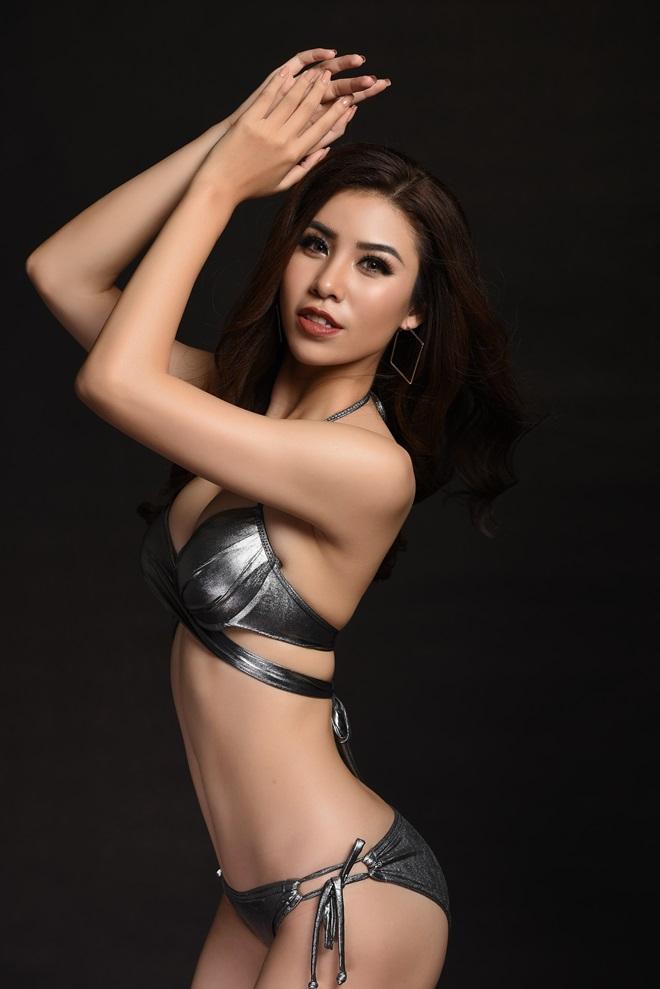Á hậu 1 Hoa hậu Biển ngồi xổm mỗi ngày 100 cái để có thân hình đẹp - 2