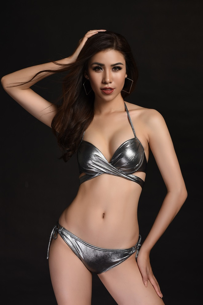 Á hậu 1 Hoa hậu Biển ngồi xổm mỗi ngày 100 cái để có thân hình đẹp - 3
