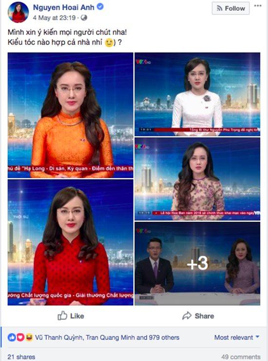 BTV Hoài Anh VTV khiến người hâm mộ bối rối vì để tóc nào cũng đẹp - 2