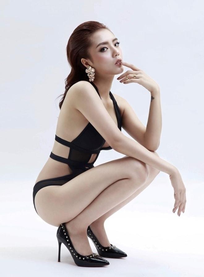 Hot girl Lâm Á Hân nóng bỏng hơn khi tái xuất tại The Face - 4