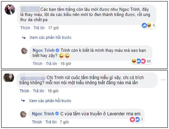 """Sau màn """"đáp trả"""" anti-fan, Ngọc Trinh livestream đi tắm trắng - 4"""