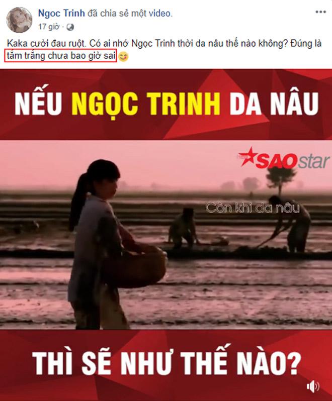 """Sau màn """"đáp trả"""" anti-fan, Ngọc Trinh livestream đi tắm trắng - 3"""